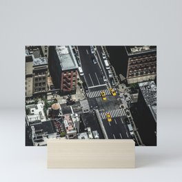 Little Yellow Cabs Mini Art Print