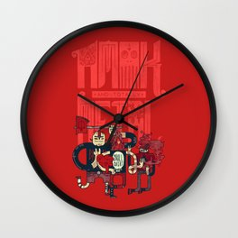 Amok and Totally Metal Wall Clock