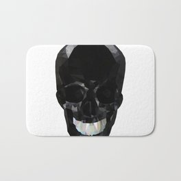Skull Black Low Poly Bath Mat