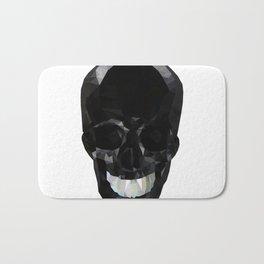 Skull Black Low Poly Bath Mat