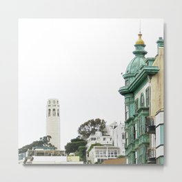 View of the Coit Tower Metal Print
