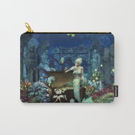 Wonderful mermaid with cute crab Carry-All Pouch