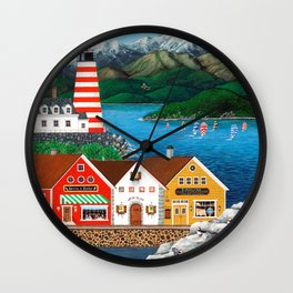 Puffin Point Wall Clock