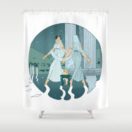 Dance at midnight Shower Curtain