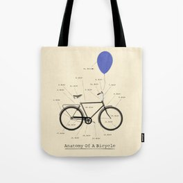 Anatomy Of A Bicycle Tote Bag