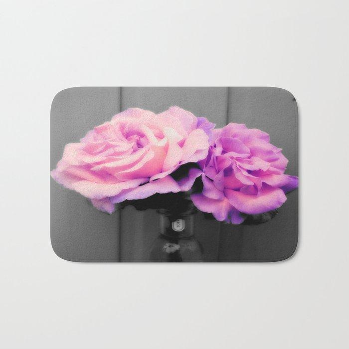 flowERS Pink Purple Pop of Color Bath Mat