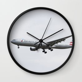 American Airlines Airbus A330 Wall Clock
