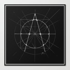 XXIst Century Anarchy Monochrome Canvas Print