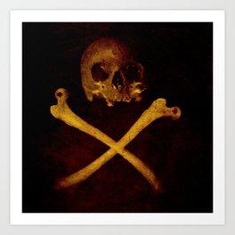 Pirate Skull Art Print