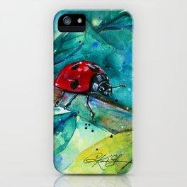 Ladybug - by Kathy Morton Stanion iPhone Case