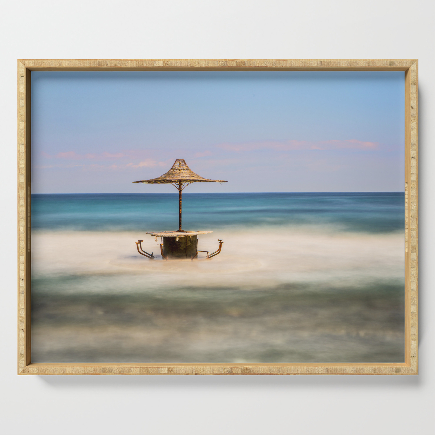 Seaside Bar Serving Tray By Davehare Society6