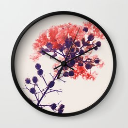 Holy Crape Myrtle! Wall Clock