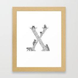 Bearfabet Letter X Framed Art Print