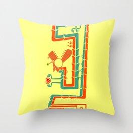 Fracktail Throw Pillow