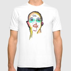 Lucky  MEDIUM White Mens Fitted Tee