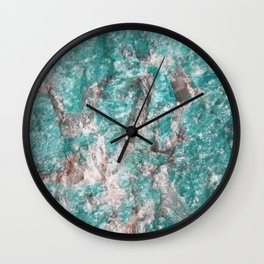 Amazonite Stone Wall Clock