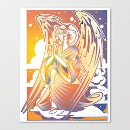 Kneeling Angel Canvas Print