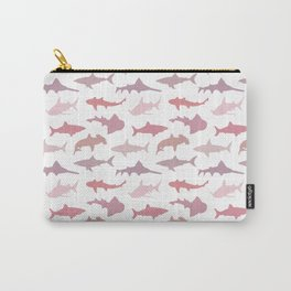Pink Sharks Carry-All Pouch