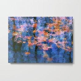 Fallen leaves in water I Metal Print