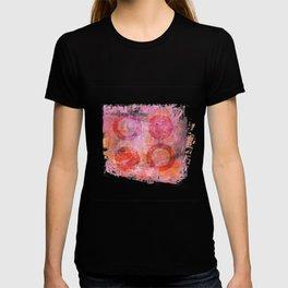 abstract circles painted artwork T-shirt