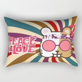 Hippie Hamster Rectangular Pillow