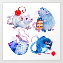 Sweet Rats Art Print