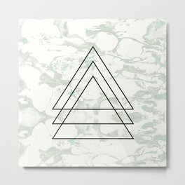 Triangle Shapes   Modern Abstract Background Metal Print