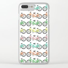 tandem bikes - multi color Clear iPhone Case