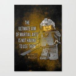 Samurai Musashi, ultimate aim martial arts Canvas Print