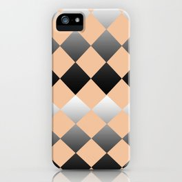 Just Peachy Gradient Diamonds iPhone Case