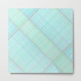 Re-Created  Grid 8 by Robert S. Lee Metal Print
