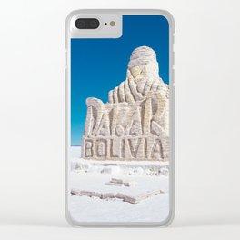 Dakar, Bolivia Monument in Salar de Uyuni, Salt Flats Clear iPhone Case