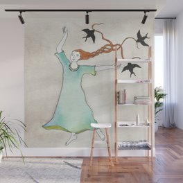 Three Blackbirds Wall Mural