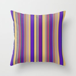 awning stripe Throw Pillow