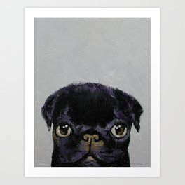 Black Pug Kunstdrucke