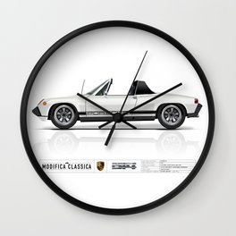 Porsche 1974 914 Light Ivory with Livery Wall Clock