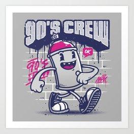 90s Crew Art Print