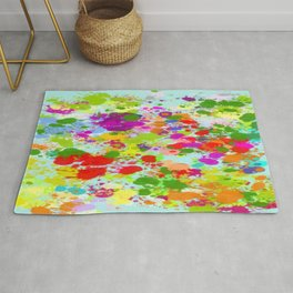 Paint Splattered Sky Rug