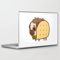 taco Laptop & iPad Skins featuring Puglie Taco by Puglie Pug