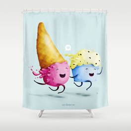 ice-cream in love Shower Curtain