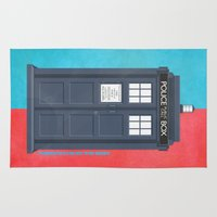 doctor Area & Throw Rugs featuring 10th Doctor - DOCTOR WHO by LindseyCowley