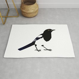 Black and white Magpie Rug