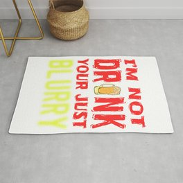 Drinking Team St. Patricks Day Birthday Gift Party Alcohol Celebration Beer Vodka Wine Rum Gin Rug