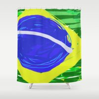 brasil Shower Curtains featuring BRASIL by Fabiano ART