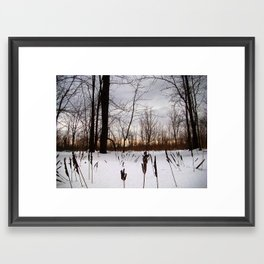 Love Gives Me Chills Framed Art Print