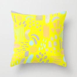 Dancing shapes Throw Pillow