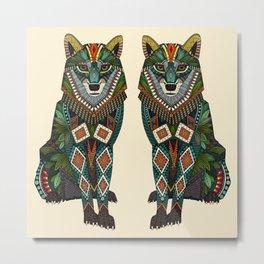 wolf ivory Metal Print
