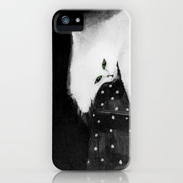 Cats_white cat iPhone Case
