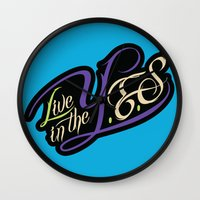inception Wall Clocks featuring YES InCEPTIOn by LiveInTheYES