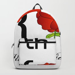 Happy Rose day february 7th- valentine month gifts for lovers Backpack
